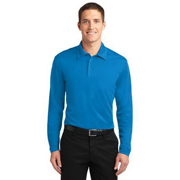 Custom Port Authority (R) Silk Touch Performance Long Sleeve Polo
