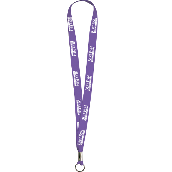 "Custom Purple Polyester Lanyards 5/8"" x 36"" - Value Lanyards"