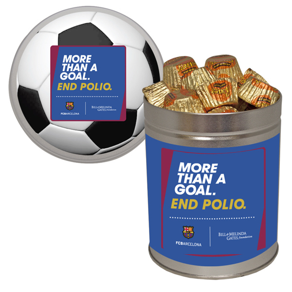 Promotional Quart Tin with Reese's Cups - Chocolate Peanut Butter Candy