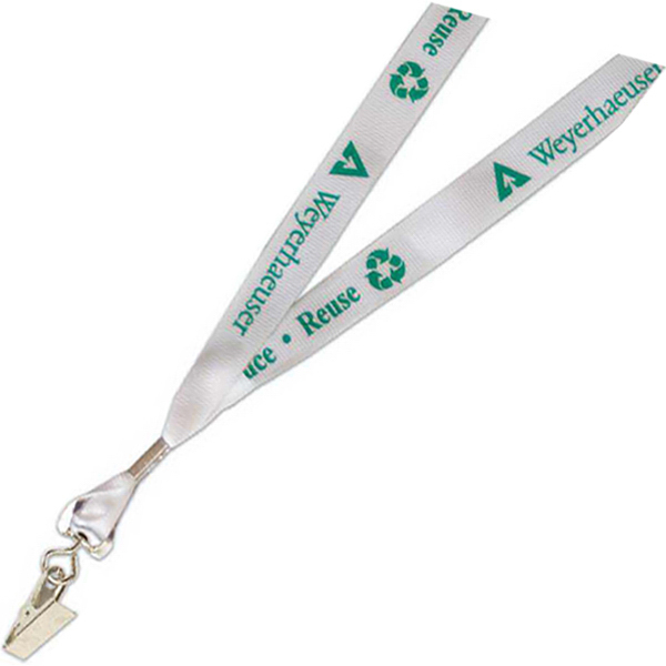 Imprinted Recycled Material Lanyard