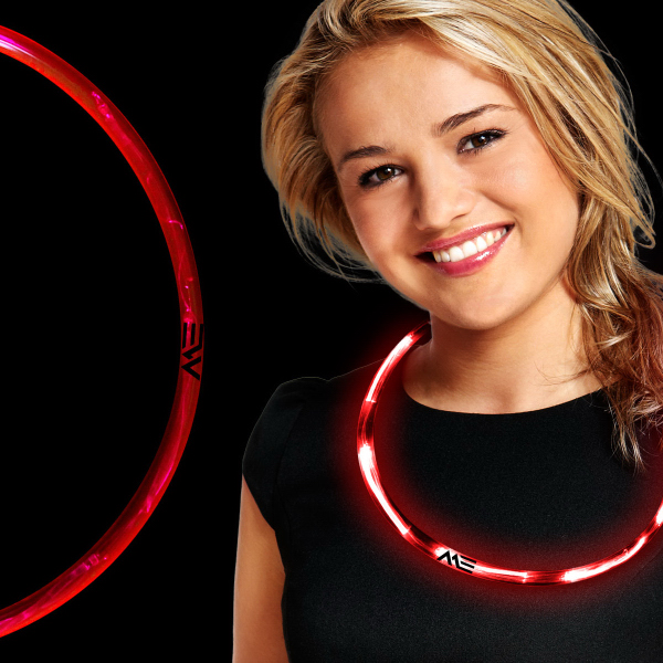 Customized Red LED Necklace