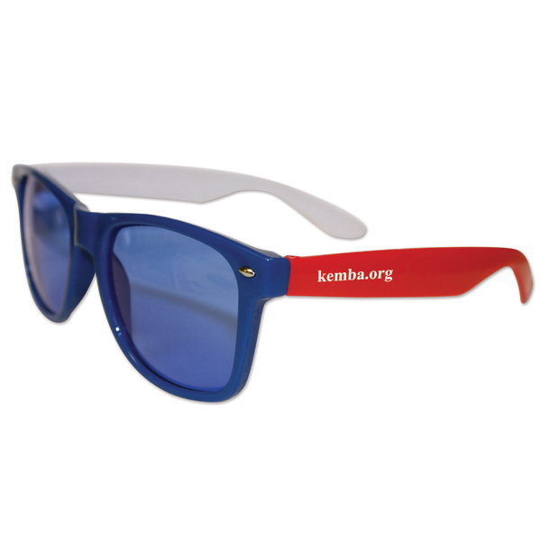 Imprinted Red, White & Blue Glasses