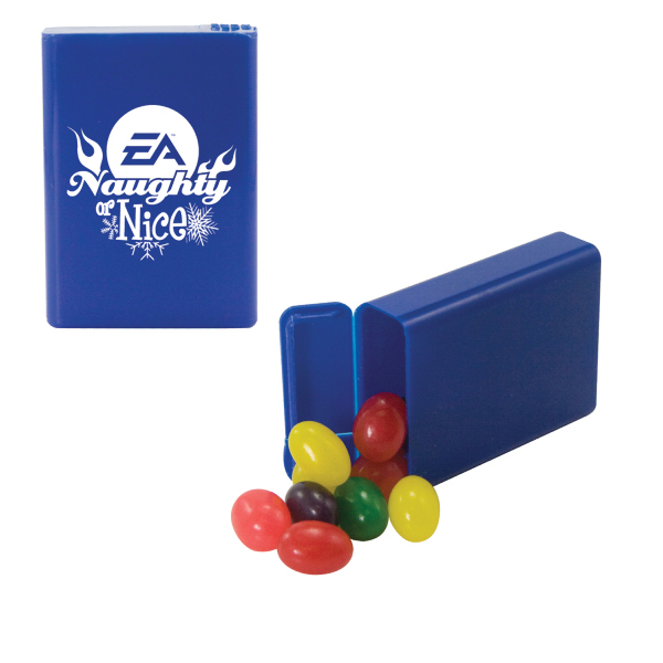 Promotional Refillable Plastic Mint/Candy Dispenser with Jelly Beans