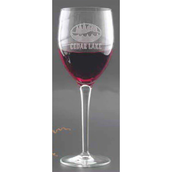 Printed Romantica Red Wine Glass