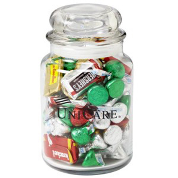 Customized Round Glass Jar / Lindt (R) Truffles