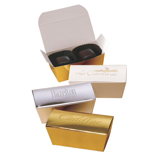 "Personalized Say it with Truffles"" Imprinted Gift Box"