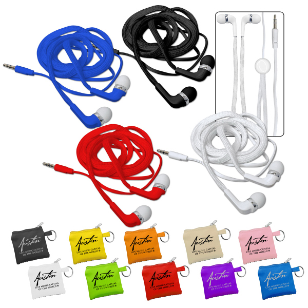 Printed Shoelace Ear Buds
