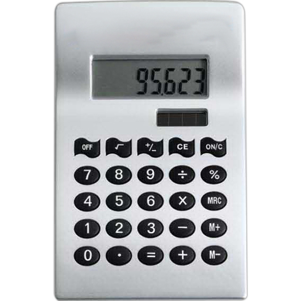 Imprinted Silver Solar Calculator
