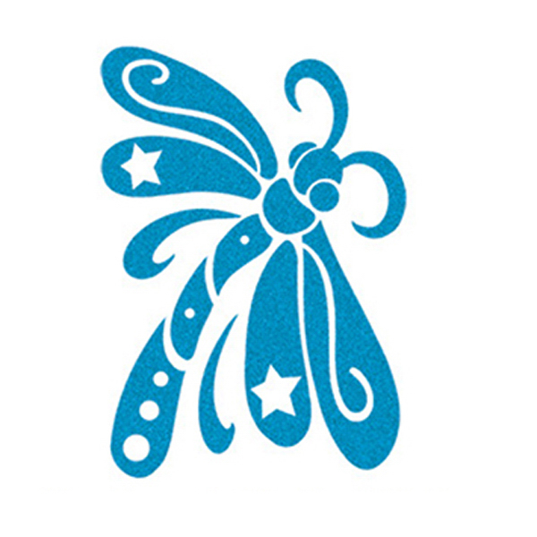 Custom Skin Sugar Collection - Blue Dragonfly Temporary Tattoo