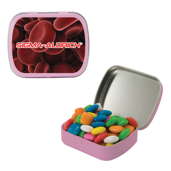Custom Small Pink Mint Tin with Gum