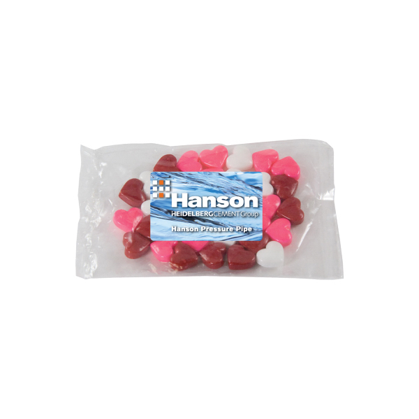 Custom Small Promo Candy Pack with Candy Hearts