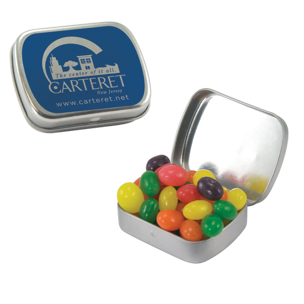Customized Small Silver Mint Tin with Jelly Beans