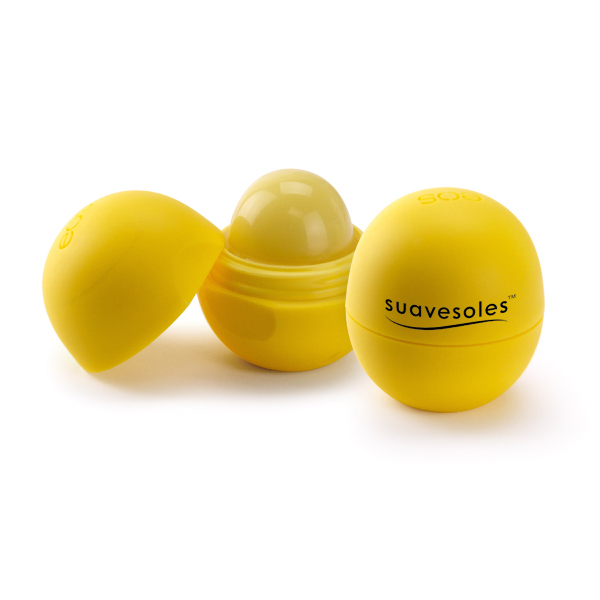 Printed Smooth Sphere Lip Balm - Lemon Drop with SPF 15