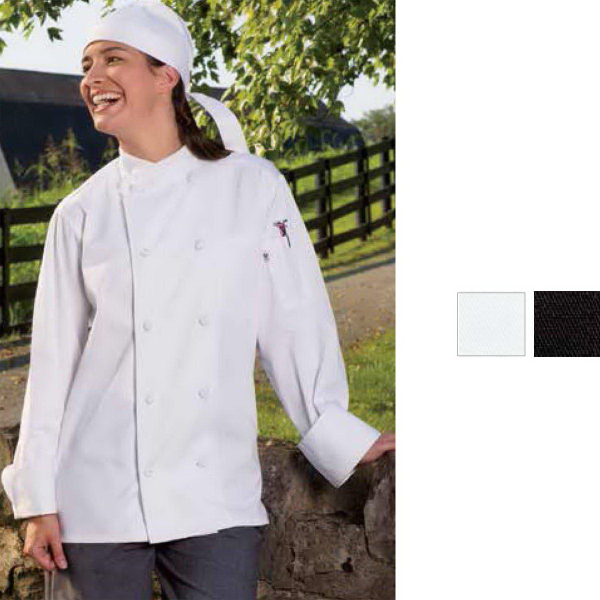 Printed Soho Chef Coat - Black