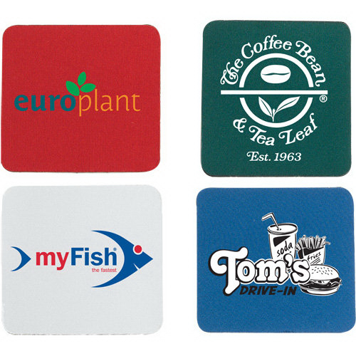 Imprinted Square Neoprene Coaster
