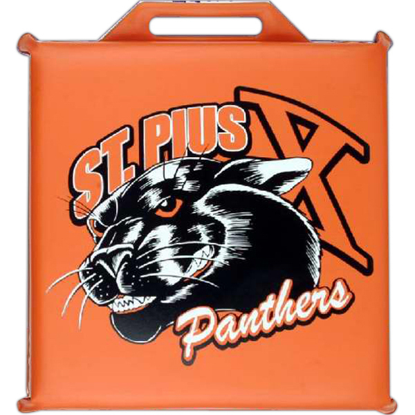 "Imprinted Square Stadium Cushion - 14"" Sq. x 2"""