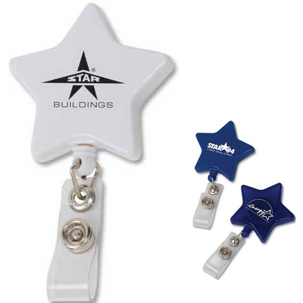 Printed Star Retractable Badge Holder