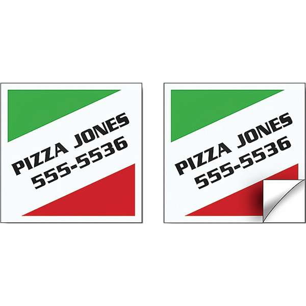 "Customized Sticker/Decal - Vinyl UV-Coated - 2.5"" x 2.5"" Square Corners"