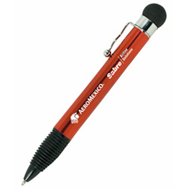 Promotional Stress Ball Pen with Plunger Action and Metallic Finish