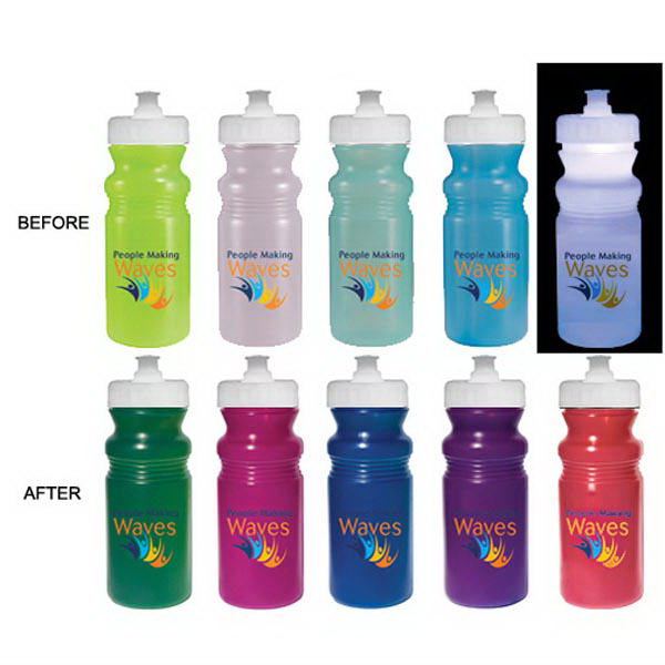 Promotional Strobe 20 oz Sun Fun cycle bottle, Full color digital