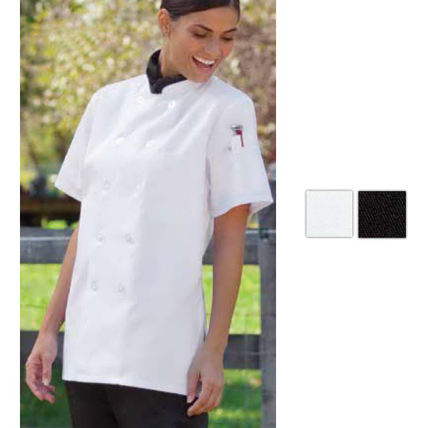 Personalized Tahoe Women's Short-Sleeve Black Chef Coat