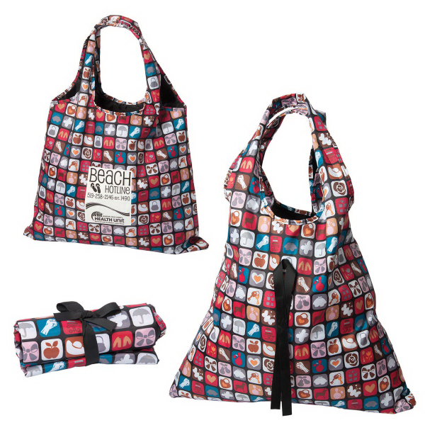 Printed Take it All Extra-Large Folding Tote