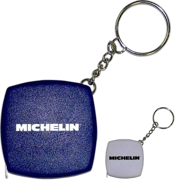 Imprinted Tape Measure Keychain
