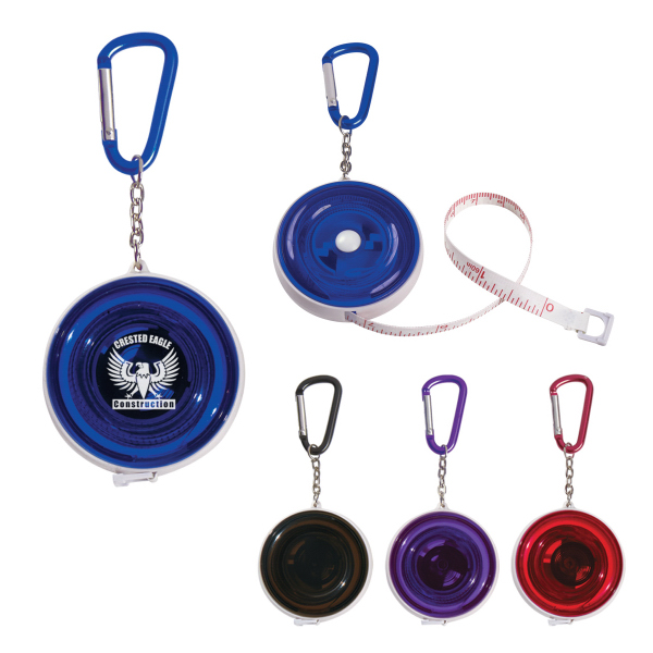 Personalized Tape Measure with Carabiner