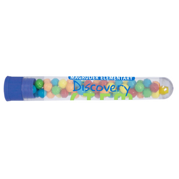 Imprinted Test tube with Mini Tarts with Blue Cap