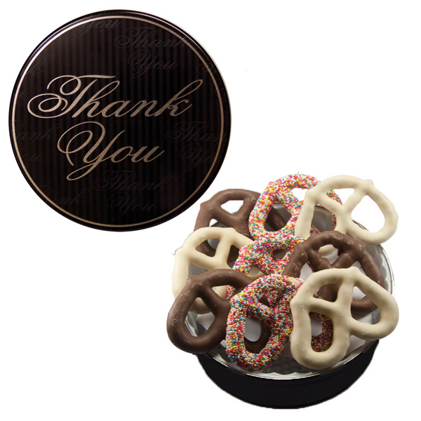Customized The Grand Pretzel Tin - Thank You Design