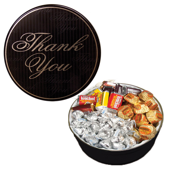 Custom The Grand Tin with Hershey Chocolates - Thank You Design