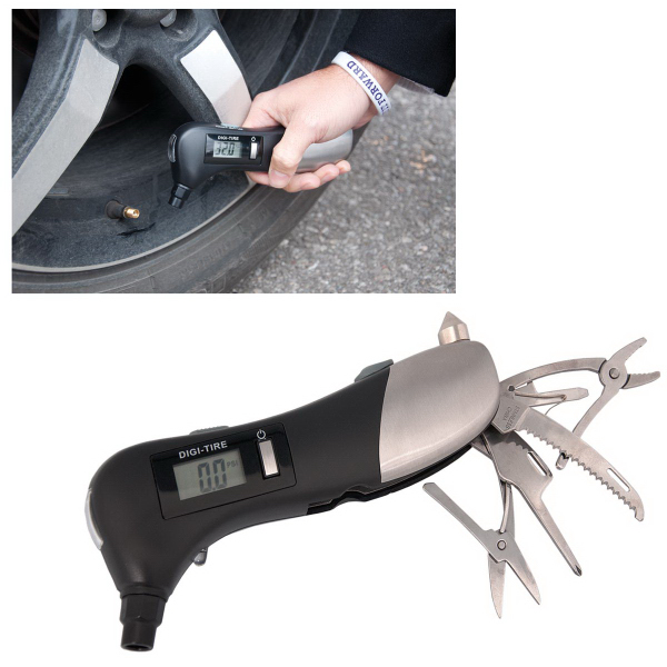 Printed Tire Gauge with Multi Tool