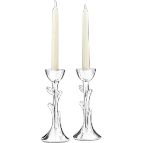 Customized Tree of Life Sabbath Candlesticks Pair