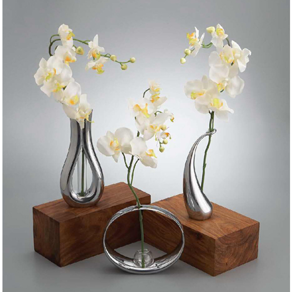 Personalized Tulip Bud Vase with Silk Orchid