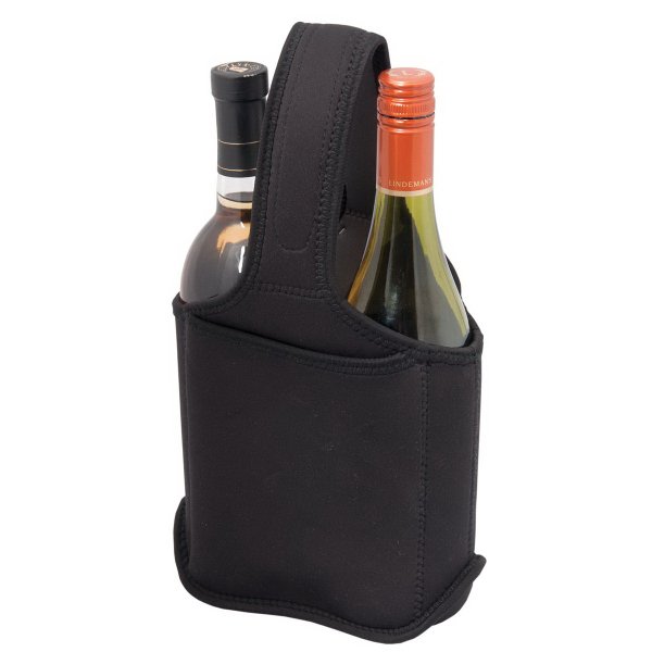 Printed Two Bottle Neoprene Wine Bag/Caddy