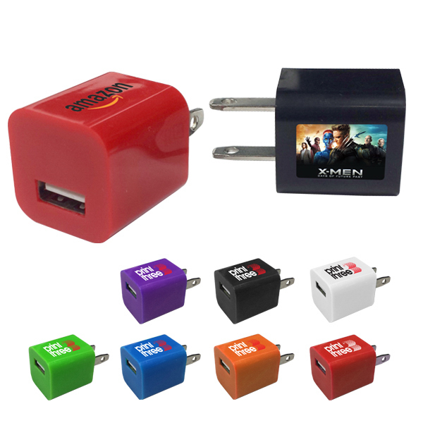 Customized USB Power Adpater- A/C wall charger plug