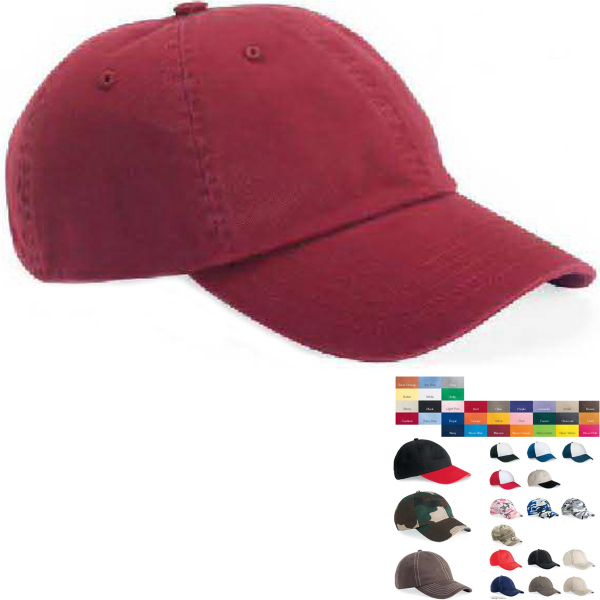 Personalized Valucap Adult Bio-washed Unstructured Cap