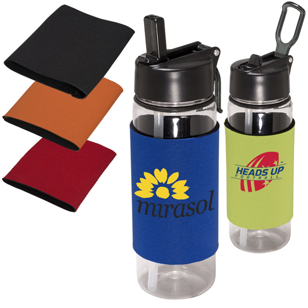 Personalized Voyager Tritan (TM) Bottle with Neoprene Sleeve