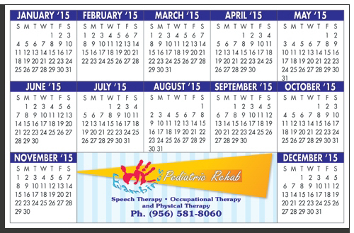 "Custom W-1117R Calendar Card with Repositionable Strip 11"" x 17"""