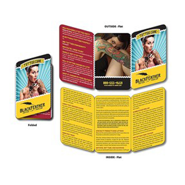 Customized Wallet Card - 6.75x3.5 (Flat Size) Laminated Tri-Fold- 14 pt