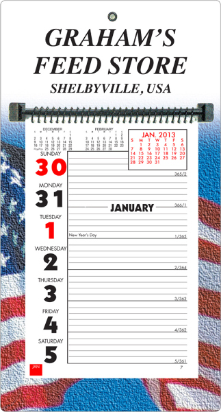 Promotional Weekly Memo Wall Calendar