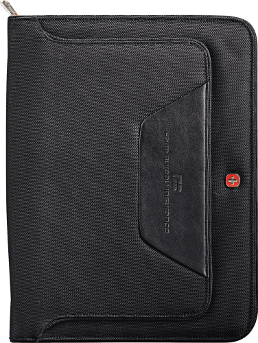 Printed Wenger (R) Ballistic Zippered Padfolio Bundle Set