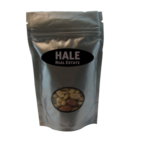 Promotional Window Bag with Peanuts - Silver