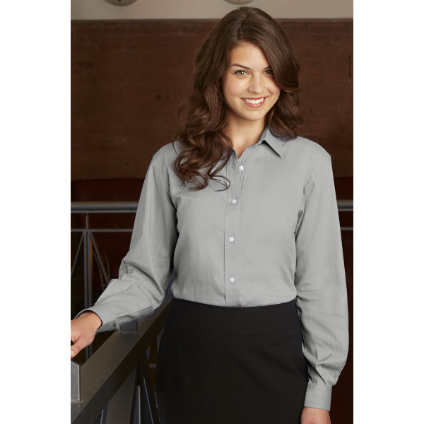 Customized Women's Van Heusen Easy-Care Classic Pincord Shirt