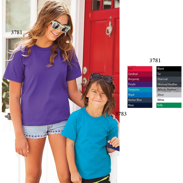 Promotional Youth Retail Full Fit Short Sleeve Tee